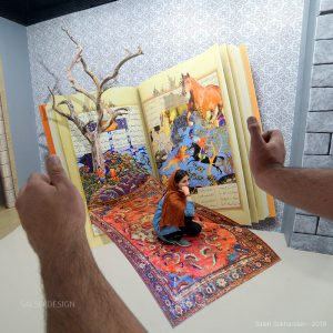 Carpet book 3d sticker 3d painting