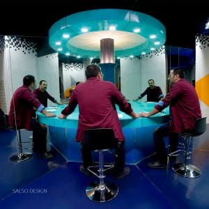 infinity mirror meeting table art anamorphic art optical illusion