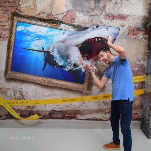 shark wall sticker 3d sticker 3d painting