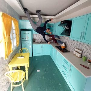 upside down museum upside down kitchen art anamorphic art optical illusion