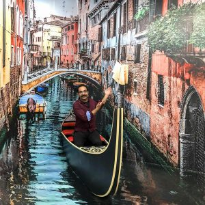 venice ship 3d sticker 3d painting