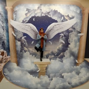 wing angel 3d sticker 3d painting