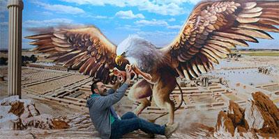 griffin 3d painting by saleh sokhandan